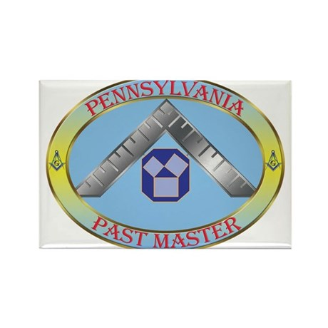 PA Past Master Rectangle Magnet