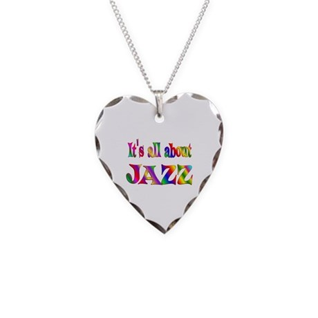 All About Jazz Necklace Heart Charm