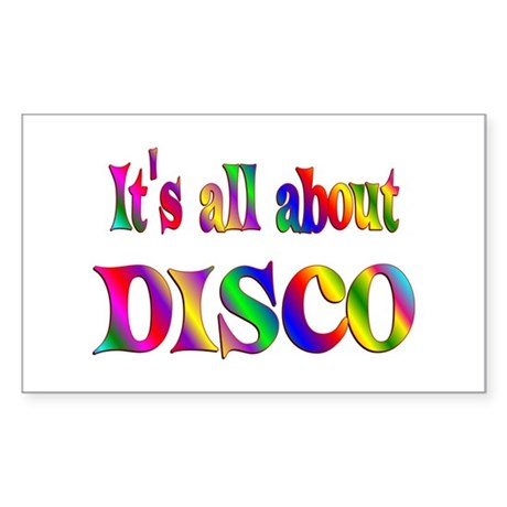 All About Disco Sticker (Rectangle 10 pk)