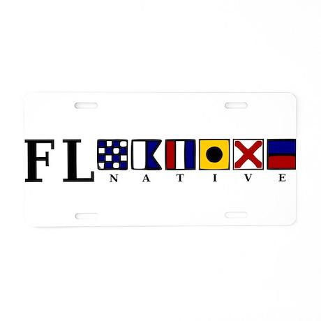 FL native Aluminum License Plate