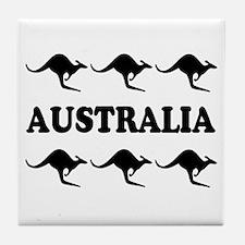 Kangaroos Australia Tile Coaster