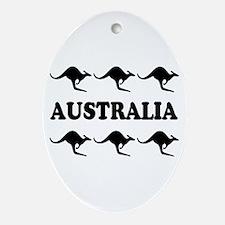 Kangaroos Australia Oval Ornament