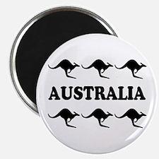 Kangaroos Australia Round Magnet (10 pack)