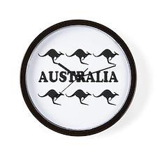 Kangaroos Australia Wall Clock