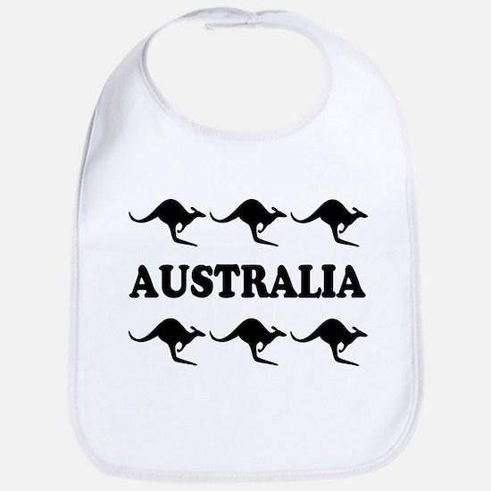 Kangaroos Australia Bib