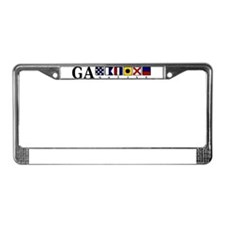 GA native License Plate Frame