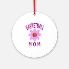 Basketball Mom Ornament (Round)