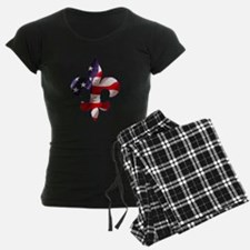 Fleur de lis Stars & Stripes Pajamas