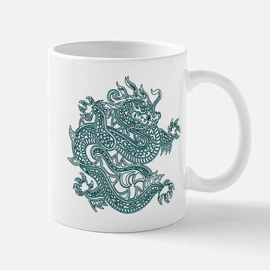 Teal Dragon Mug