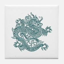 Teal Dragon Tile Coaster
