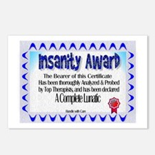 Insanity Award Postcards (Package of 8)