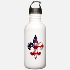 Fleur de lis Stars & Stripes Water Bottle