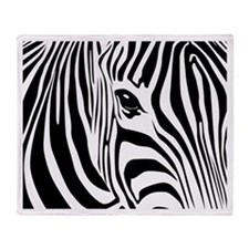 Zebra Art Throw Blanket