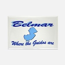 Belmar, where the guidos are Rectangle Magnet
