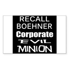 Recall John Boehner Decal