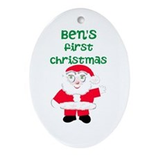 First Christmas Ornament (Oval)