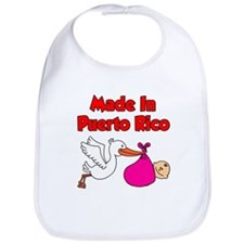 Made In Puerto Rico Girl Bib