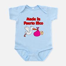 Made In Puerto Rico Girl Infant Bodysuit