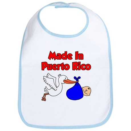 Made In Puerto Rico Boy Bib