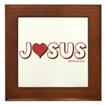 I (Heart) Love Jesus Framed Tile