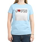 I (Heart) Love Jesus Women's Pink T-Shirt