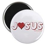 """I (Heart) Love Jesus 2.25"""" Magnet (100 pack)"""
