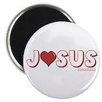 I (Heart) Love Jesus Magnet