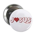 "I (Heart) Love Jesus 2.25"" Button (100 pack)"