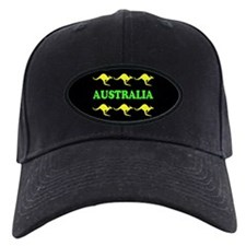 Kangaroos Australia Baseball Cap Green & Gold