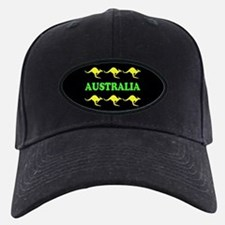 Kangaroos Australia Baseball Hat Green & Gold
