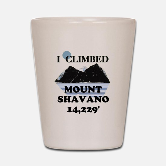 I Climbed Mount Shavano Shot Glass