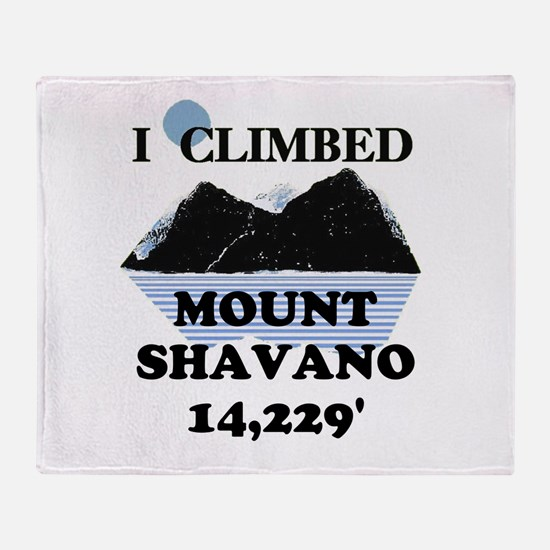 I Climbed Mount Shavano Throw Blanket