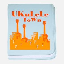 Ukulele Town baby blanket