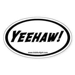 Yeehaw! Oval Decal