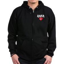 RAFA number one Zip Hoodie