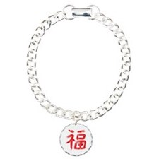 Chinese Good Fortune Symbol Charm Bracelet, One Ch