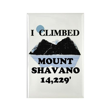 I Climbed Mount Shavano Rectangle Magnet