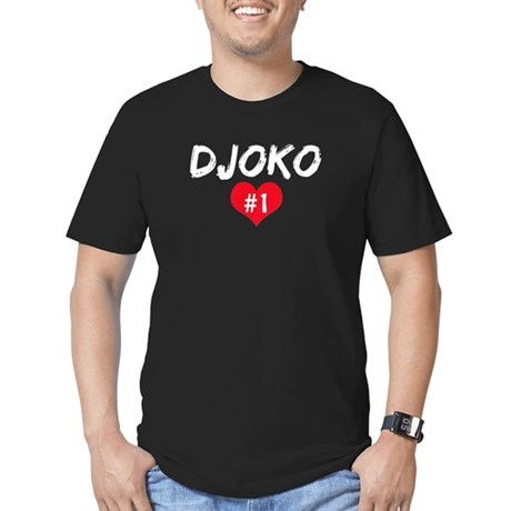 DJOKO number one Men's Fitted T-Shirt (dark)