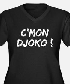 C'MON DJOKO ! Women's Plus Size V-Neck Dark T-Shir