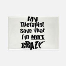 Crazy Therapist Rectangle Magnet