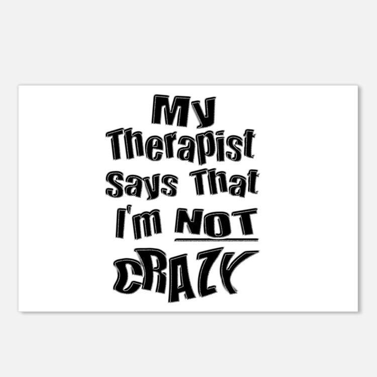 Crazy Therapist Postcards (Package of 8)
