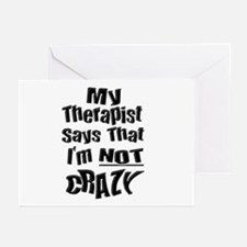 Crazy Therapist Greeting Cards (Pk of 10)