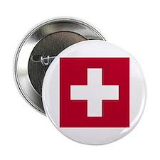 Switzerland Swiss Suisse (CH) Flag - Button