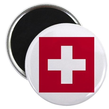 Switzerland Swiss Suisse (CH) Flag - Magnet