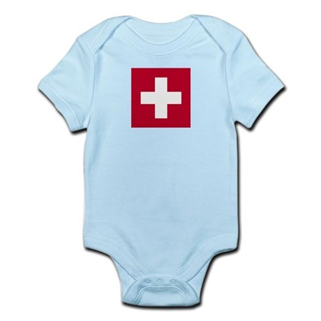Switzerland Swiss Suisse (CH) Flag - Infant Creep