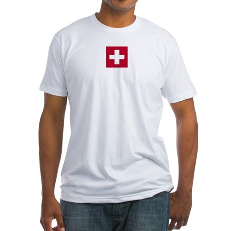 Switzerland Swiss Suisse (CH) Flag - Fitted T-Shi