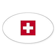 Switzerland Swiss Suisse (CH) Flag - Decal