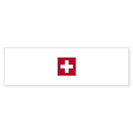 Switzerland Swiss Suisse (CH) Flag - Sticker (Bum