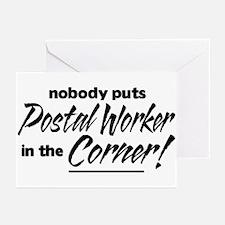 Postal Worker Nobody Corner Greeting Cards (Pk of