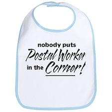 Postal Worker Nobody Corner Bib